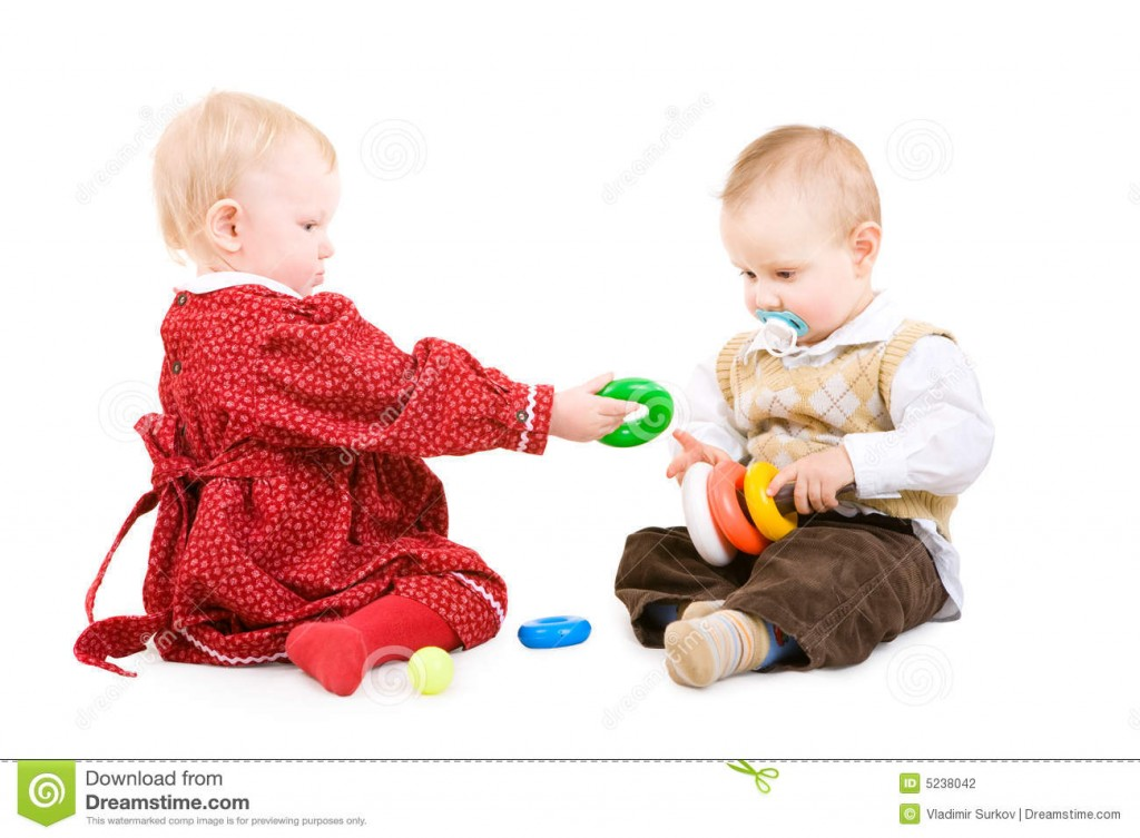 http://www.dreamstime.com/stock-photography-two-children-play-together-image5238042