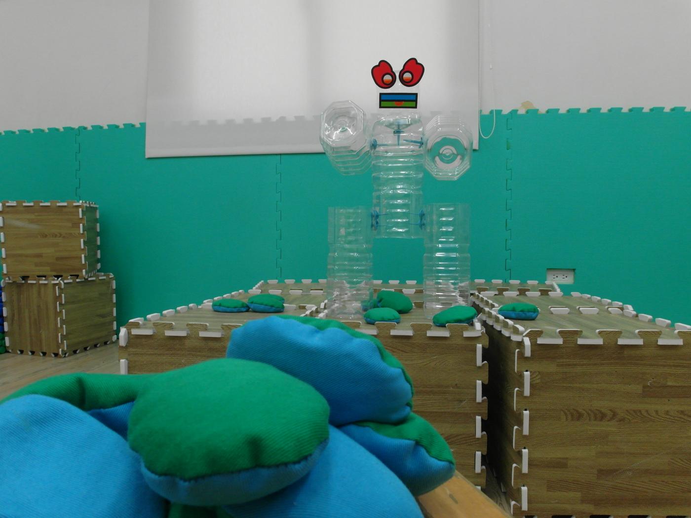 沙包攻擊機器人!