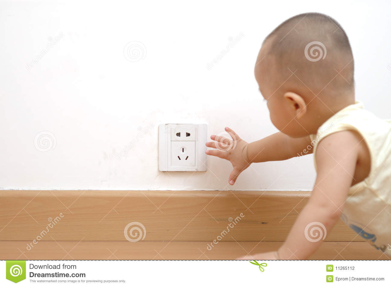 http://www.dreamstime.com/stock-photography-baby-touching-power-socket-image11265112